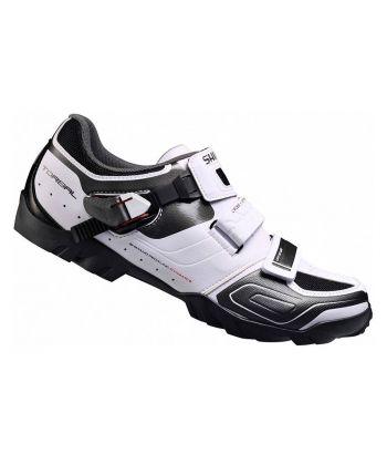 Pakc Zapatillas Shimano M089 Blancas + Pedales Shimano Deore XT SPD M8020