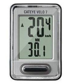 CuentaKilometros Cateye VELO 7 Blanco