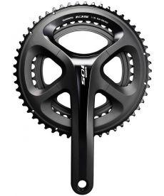 Bielas Shimano 105 FC-5800 11X2 Velocidades Negras 175 milímetros de 34-50 Dientes
