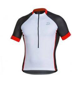 Maillot Ciclista Spiuk Race Men Blanco, Negro y Rojo