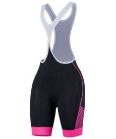 Culotte Ciclista Spiuk Performance Woman Negro y Rosa