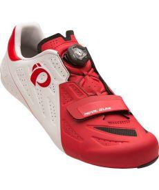 Zapatillas Ciclismo Pearl Izumi Elite Road V5 Blancas y Rojas