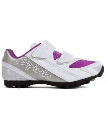 Zapatillas Spiuk UHRA MTB Blancas y Violeta