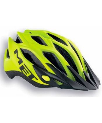 Casco Met Crossover Amarillo Mate