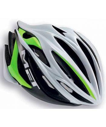casco Met Stradivarius Blanco y Verde